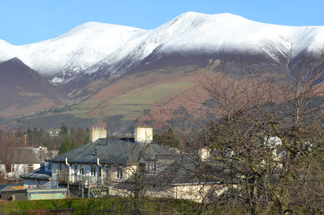 The view of Skiddaw in Winter